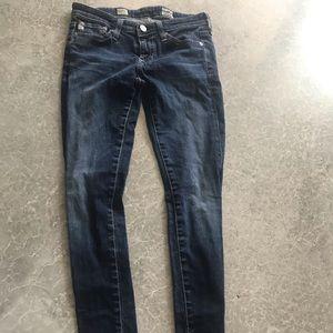 AG blue skinny jeans